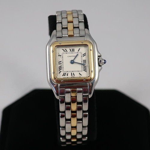 Cartier Panthere De Cartier 18k Yellow Gold and Stainless Steel Ladies Watch