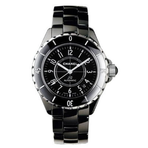 Chanel 38mm Unisex J12 Black Ceramic