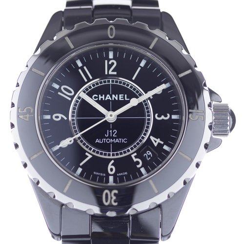 Chanel J12 Black Matte Ceramic and Steel