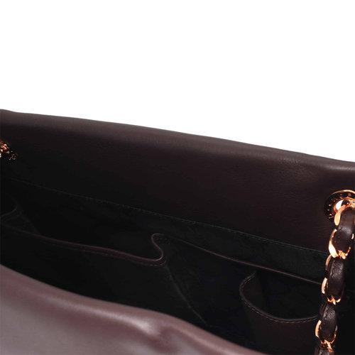 "Chopard ""Round Logo"" Imperiale Dark Brown Leather Bag"