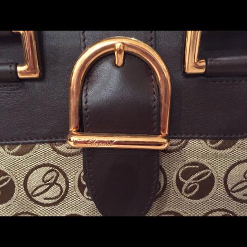 Chopard Praga Classica Mini Brown Canvas & Leather Handbag