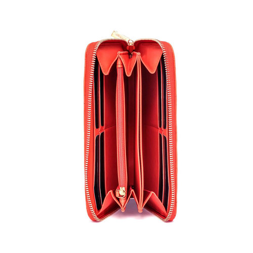 Chopard Medium Orange Quilted Leather Wallet