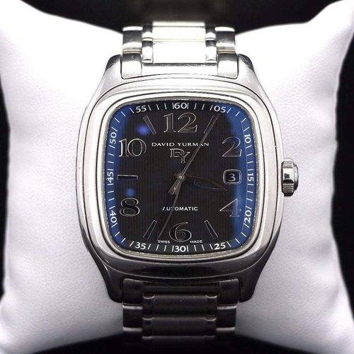 David Yurman Stunning Blue/Silver Belmont Thoroughbred Automatic