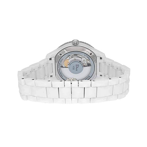 Dior VIII Ceramic Diamond 38mm Automatic Ladies Watch
