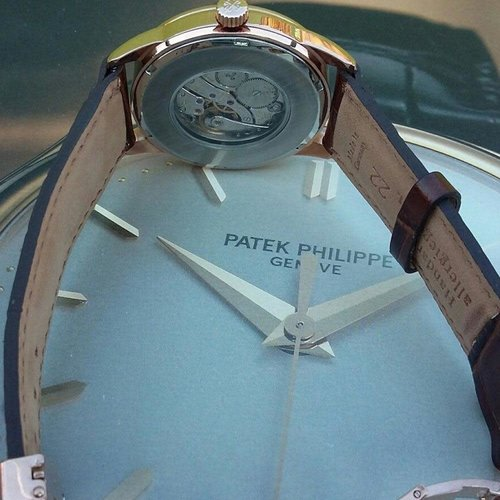 Patek Philippe Vintage Chronometer Cal. 215 Signed Movement with New Rose Gold Case