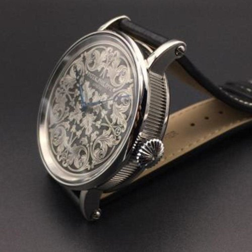 Patek Philippe Stunning 1800's Antique Movement with Hand Engraved Dial and Custom Watch Case