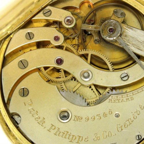 Patek Philippe Rare Collectable 1860 Open Face Solid 18kt. Gold Pocket Watch