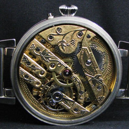 Patek Philippe Skeleton Antique 1930's Engraved Art Deco Watch