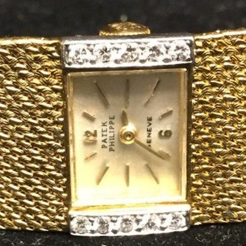 Patek Philippe 18kt. Yellow Gold Diamond Bezel Vintage Ladies Watch
