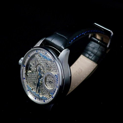 Patek Philippe Antique 1911 Signed Movement with Sapphire Jeweled Dial
