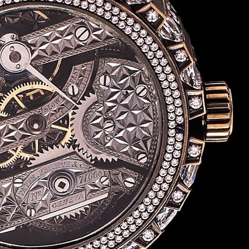 Patek Philippe Patek Philippe - 1885 Signed Movement and Numbered in Modern Skeleton Case with More Than 200 Crystals