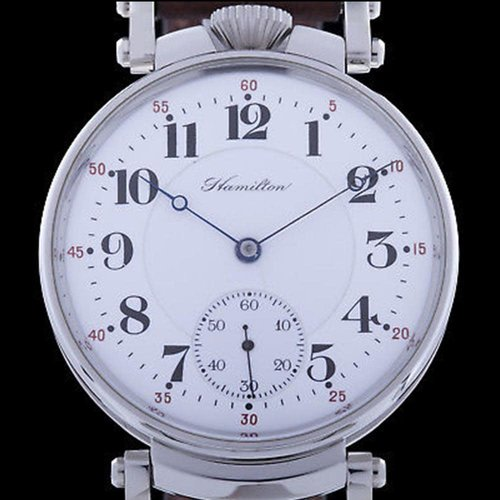 Hamilton Pre-1920 Movement with New Custom Case & Restored Dial - 21 Jewel Men's Watch