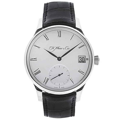Henry Moser Venturer Big Date 18kt. White Gold Manual Wind Watch