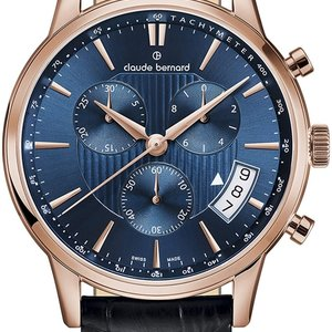 Claude Bernard By Edox Sophisticated Classics Men's Watch 01002.37R.BUIR Chrono