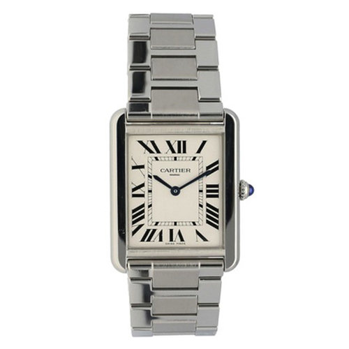 Cartier Men's Tank Solo Stainless Quartz Movement
