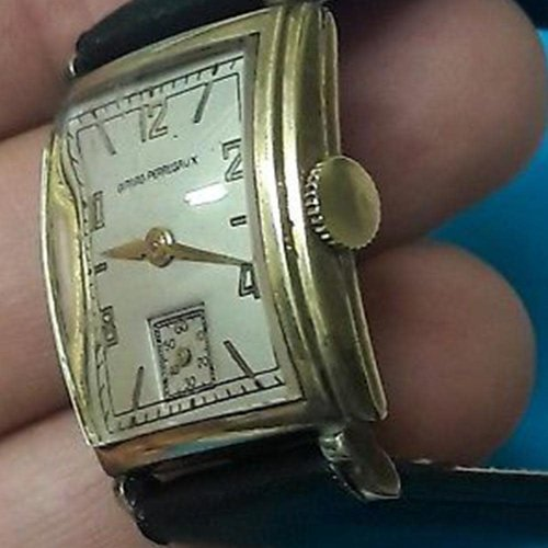 Girard-Perregaux Vintage Manual Art Deco Tank Watch with Sub-Second Dial