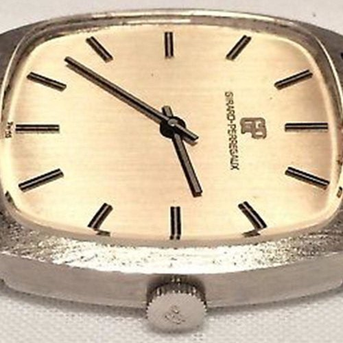 Girard-Perregaux Fantastic Vintage Manual Wind Watch with Very Unique Bark Finish