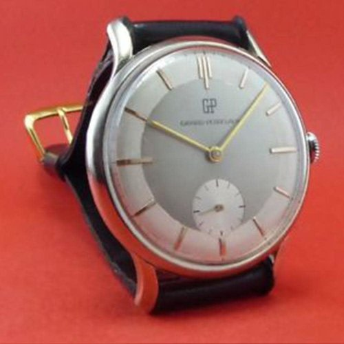 Girard-Perregaux Vintage 2-Tone Grey Dial with Gold Hands and Hour Markers