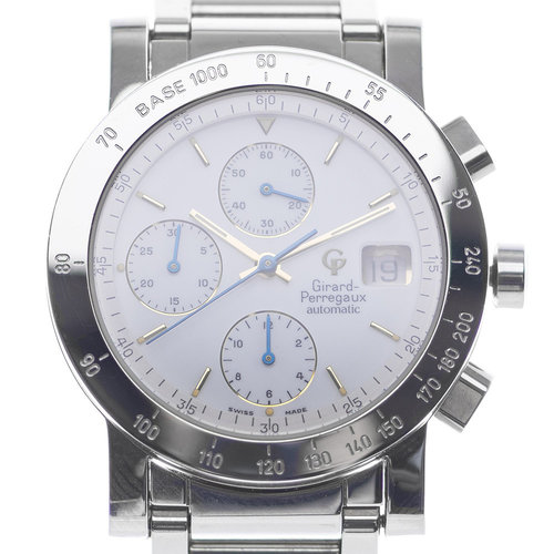 Girard-Perregaux GP 7000 Chronograph White Gold and Steel