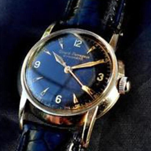 Girard-Perregaux Classic 1952 Vintage Gyromatic - Black Dial with Gold Case, Hands, and Numbers