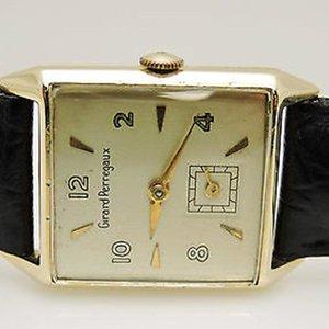 Girard-Perregaux Circa 1940 14kt. Yellow Gold  Square Dial Watch