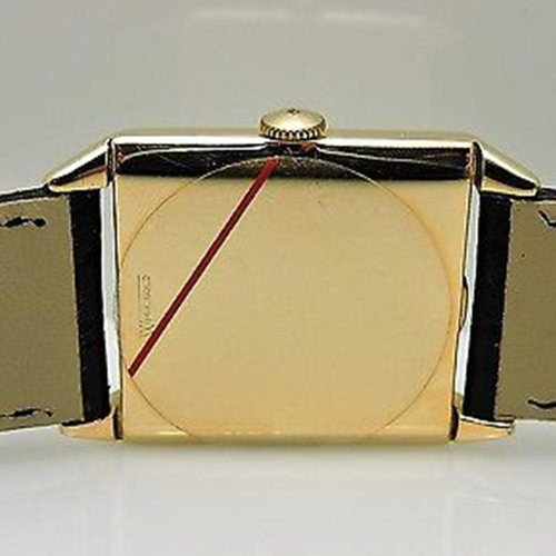 Girard-Perregaux Circa 1940 14kt. Yellow Gold  Square Dial Watch