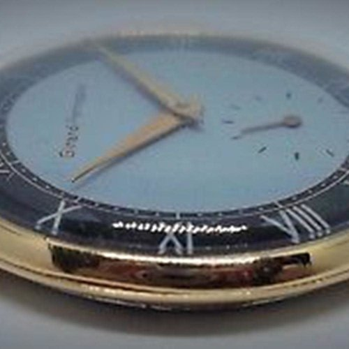 Girard-Perregaux 1942 Watch with Dark Blue and Light Blue Two-Tone Dial - 36mm - Gold Hands and Case