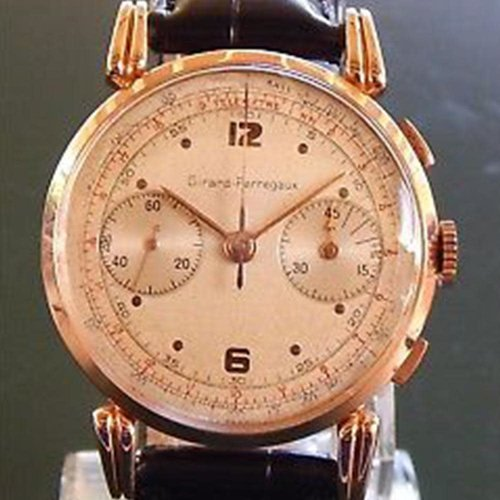 Girard-Perregaux Circa 1950's Solid Rose Gold Chronograph - 38mm - 17 Jewels