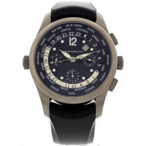 Girard-Perregaux World Time WW.TC Titanium Watch with Rubber Strap