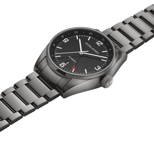 Georg Jensen Delta Men's Automatic Dual Time GMT Watch Swiss Made