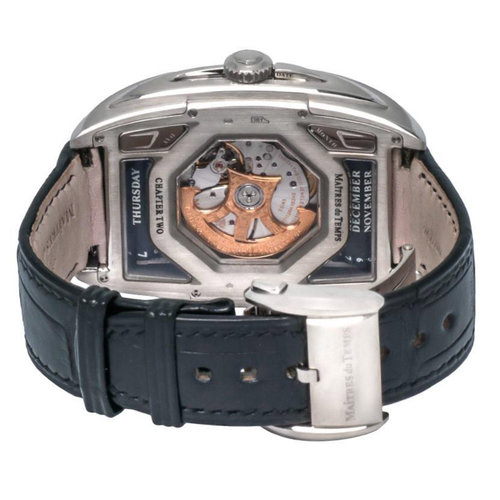 Maîtres du Temps Chapter 2 18kt. White Gold Tripple Calendar