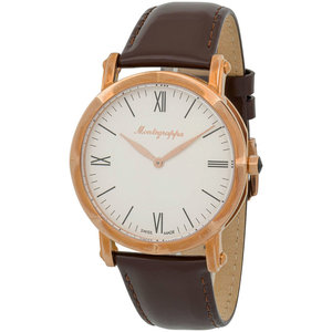 Montegrappa Rose Gold Slim NeroUno Men's Swiss Made Watch