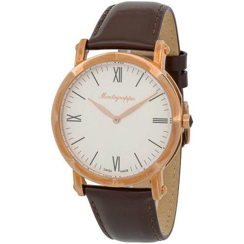 Montegrappa Rose Gold Slim NeroUno Men's Swiss Made Watch