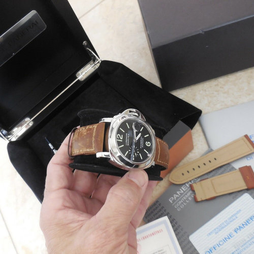 Panerai PAM 104 Luminor Marina Automatic SS 44mm Men's Watch Complete Set