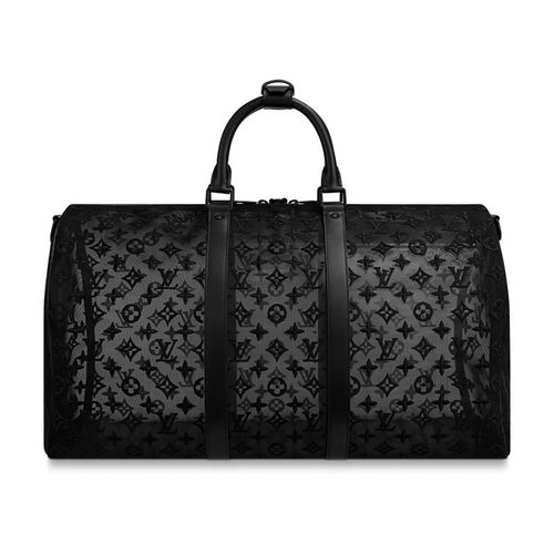 Louis Vuitton Keepall Bandoulière See-Through  Monogram Mesh 50