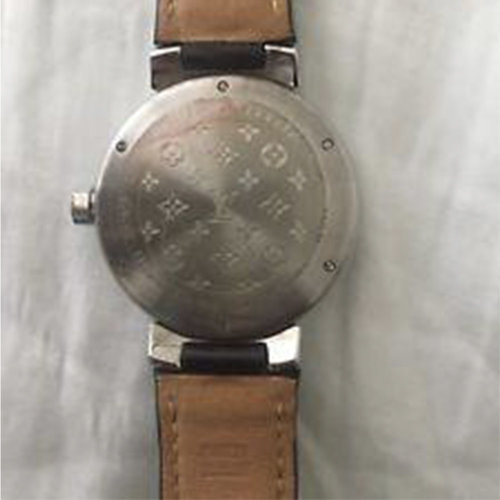 Louis Vuitton Tambour Watch 39.5mm Stainless Steel