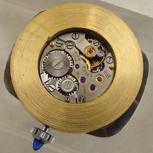 Rolex Cellini Movement Cal. 1400 in a New Custom Case with Sapphire Crown