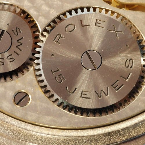 Rolex Original Solid Silver Case Movement Signed and Numbered