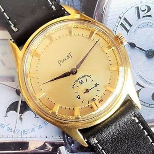 Piaget Circa 1940 Gold Plated Antimagnetic Champagne Textured Dial