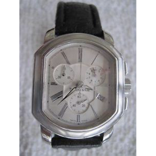 Tiffany & Co. Mark Coupe Chronograph Men's SS Watch with Silver Gray Dial