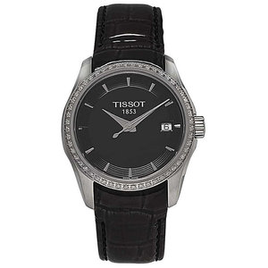 Tissot Couturier Full Diamond Bezel Ladies Watch Swiss Made