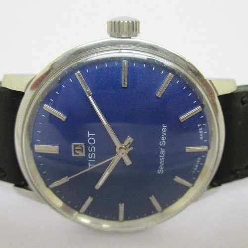 Tissot Vintage Seastar Seven Watch with Stunning Blue Dial