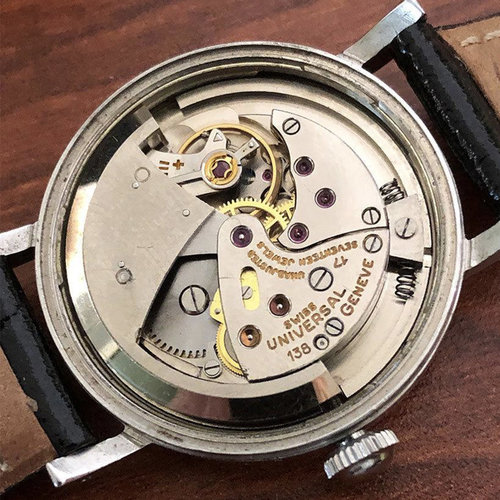 Universal Genève 17J cal. 138 Stainless Steel Bumper Automatic