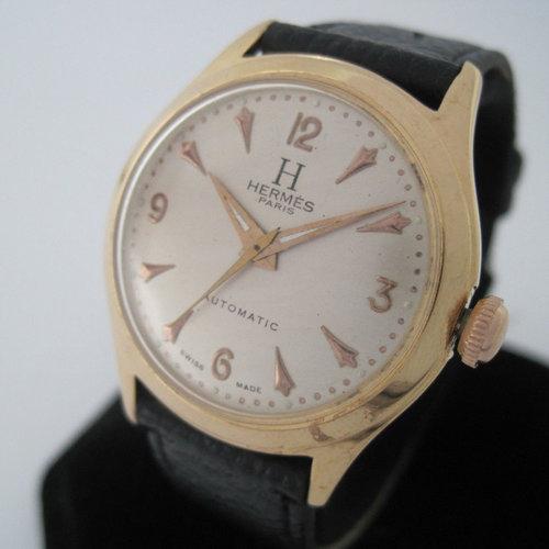 Hermès Vintage Automatic Rose Gold Watch