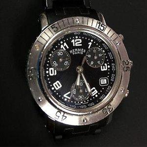 Hermès Paris Clipper Diver Chronograph CL2.315 Black Women's Wrist Watch