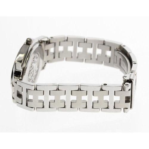 Hermès Clipper Oval CO1.510 Silver dial Stainless Steel Quartz ladies
