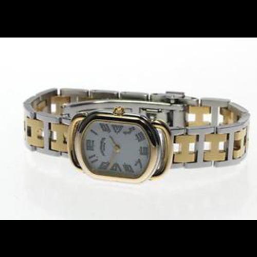 Hermès Rallye Stainless Steel Two-Tone H Link Bracelet
