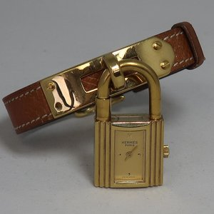 Hermès The Famous Hermès Kelly Watch - Brown Leather & Gold