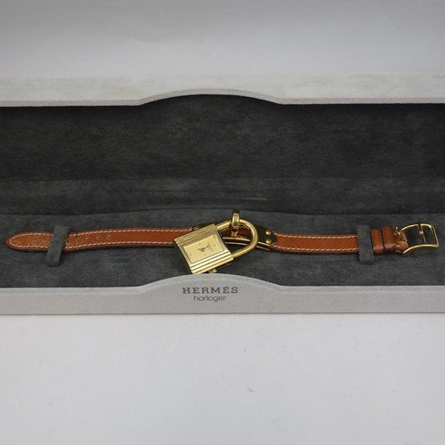 Hermès The Famous Hermès Kelly Watch - Brown Leather & Gold