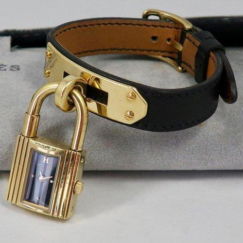 Hermès The Famous Hermès Kelly Watch - Black & Gold